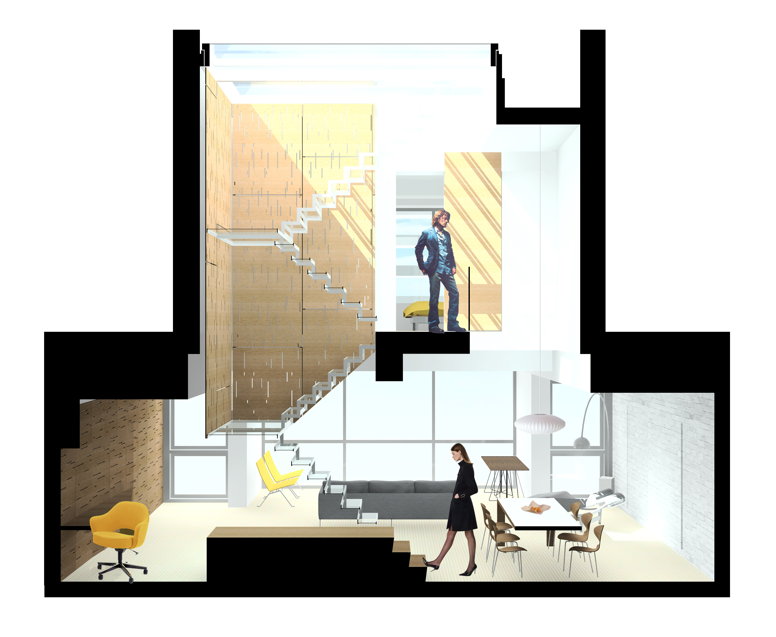 2481x2037 67a2 Section Perspective Drawings As An Architectural Drawing Loft