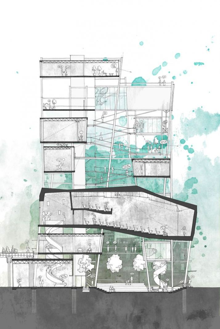 714x1069 Architecture Section Drawing