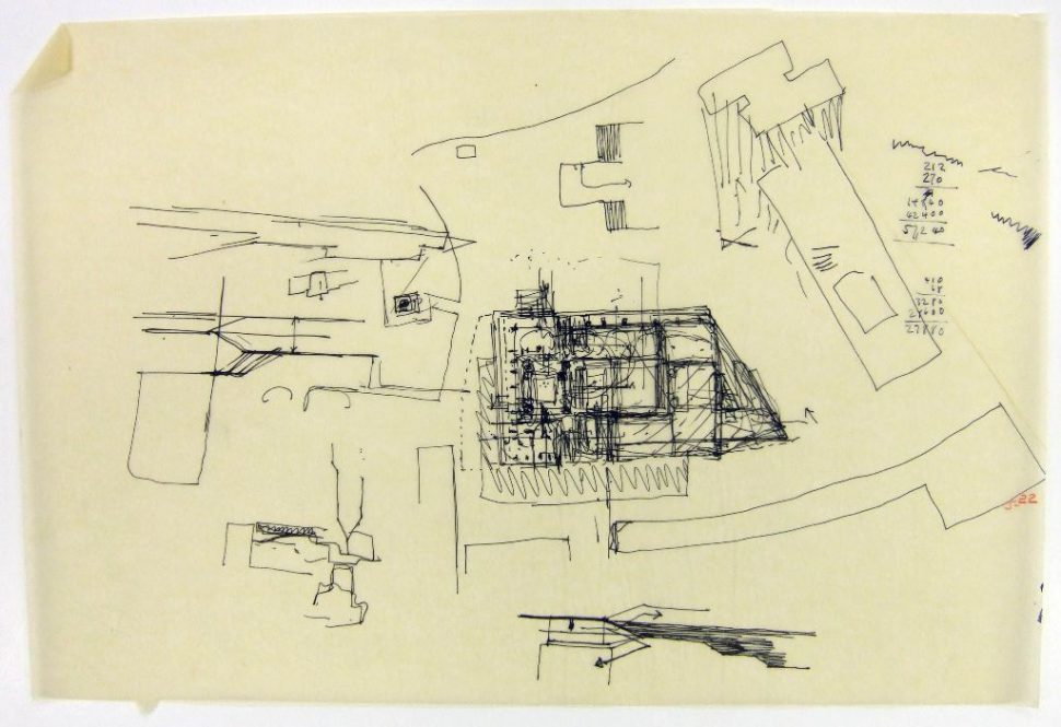 970x665 Architecture Competition Drawing Preliminary Stage Early Site