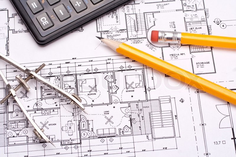 800x533 Engineering And Architecture Drawings With Pencil Stock Photo