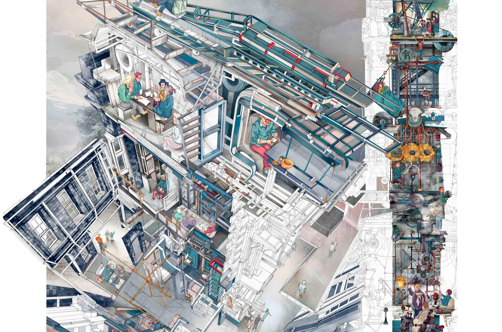 2000x1324 Winner Of The Inaugural Architecture Drawing Prize Announced