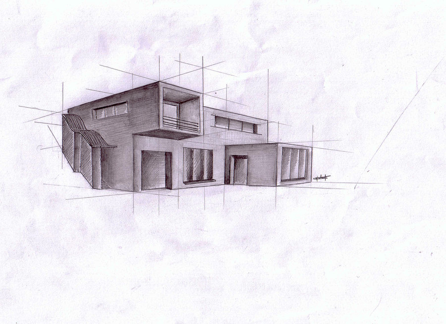 architecture house sketch. Fine Sketch 900x653 Architecture Modern House 2 By Teamedwardsabr10 On DeviantArt And Sketch V