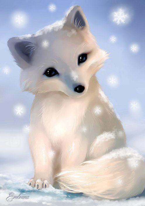 496x702 Chibi Baby Arctic Fox By On @