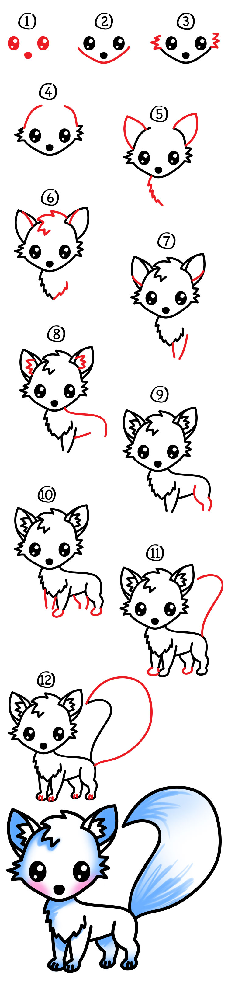 750x3235 How To Draw An Arctic Fox