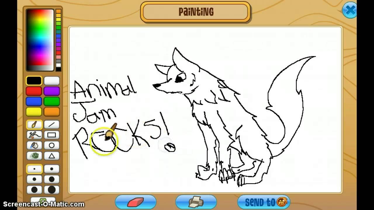 1280x720 Animal Jam Drawing An Arctic Wolf!