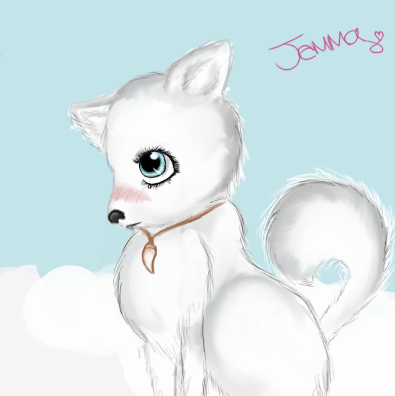 395x396 Anime Me As An Arctic Wolf By Jemmanime