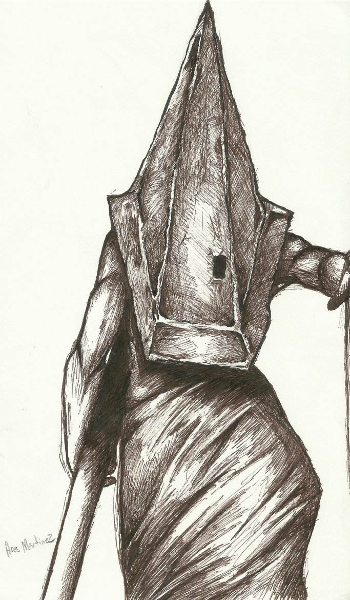 683x1169 Pyramid Head Drawing By Ares Martinez