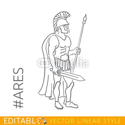 400x400 Ares. God Of War, Bloodshed, And Violence. Series Greek Gods
