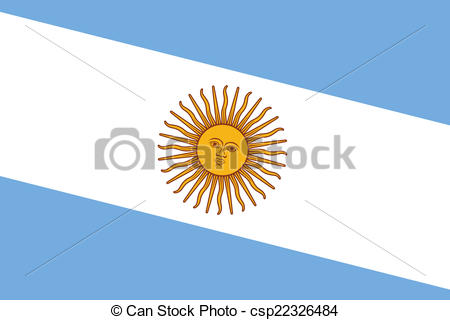 450x320 Argentina Flag Stock Illustration