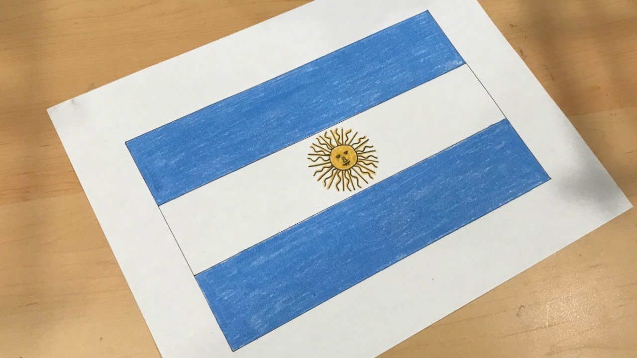 1280x720 Argentine Flag Drawing
