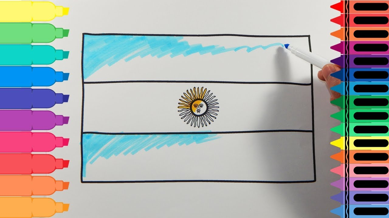 1280x720 How To Draw Argentina Flag