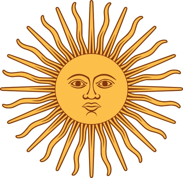 600x583 May Sun From Argentina Flag Clip Art Free Vector In Open Office