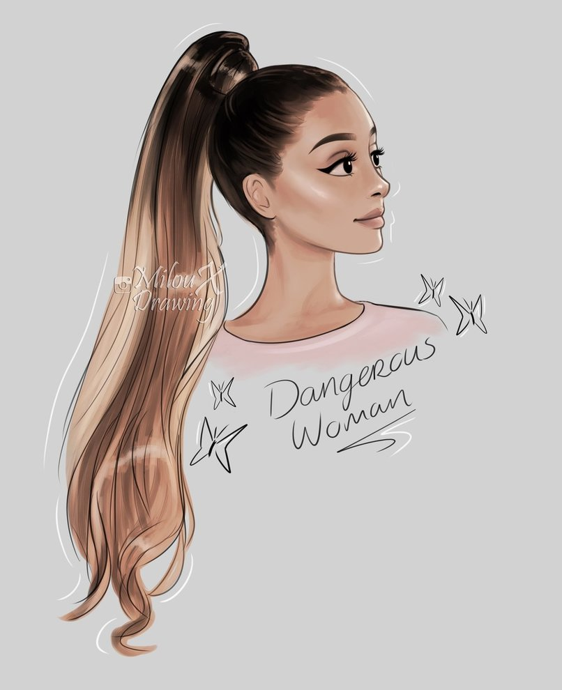 Ariana Grande Drawing At GetDrawings.com | Free For Personal Use Ariana Grande Drawing Of Your ...