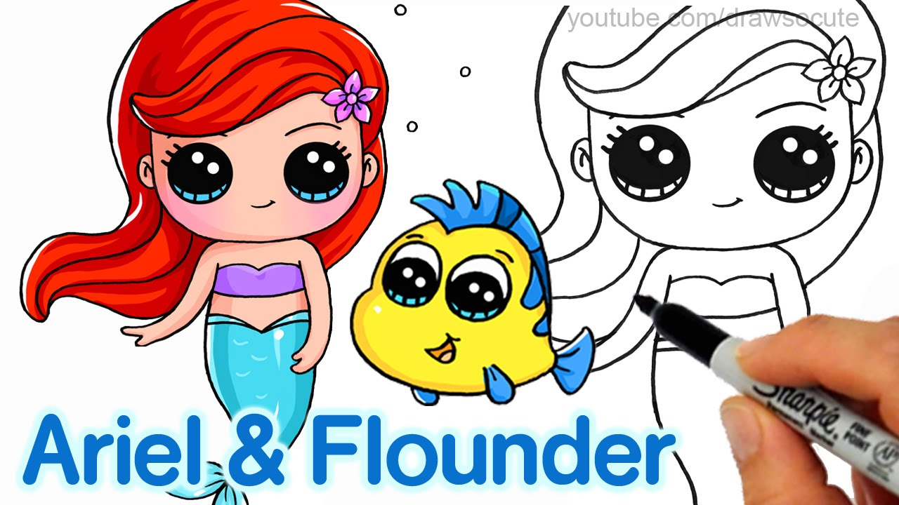 Ariel Cartoon Drawing at GetDrawings.com | Free for personal use ...