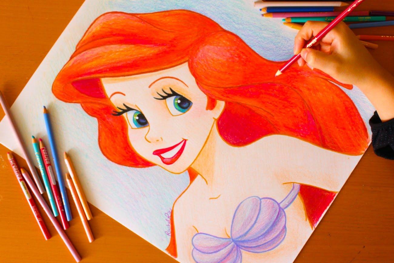 1300x867 Drawing Princess Ariel Little Mermaid Budget Art
