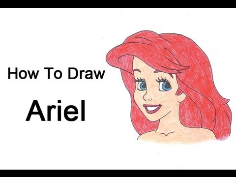 480x360 How To Draw Ariel (The Little Mermaid)