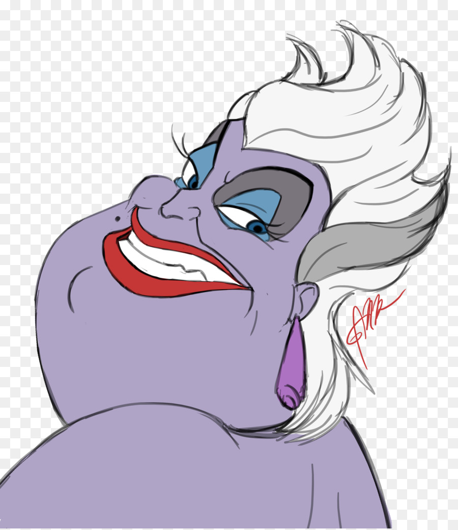 900x1040 Ursula Ariel Youtube Drawing The Walt Disney Company