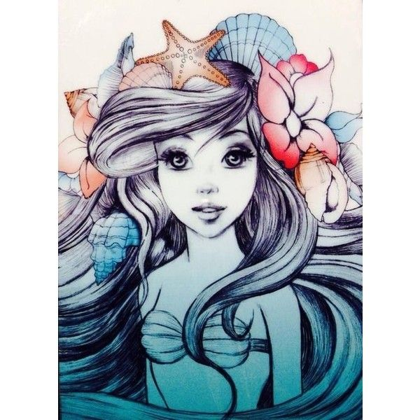 600x600 Ariel Little Mermaid Liked On Polyvore Featuring Disney