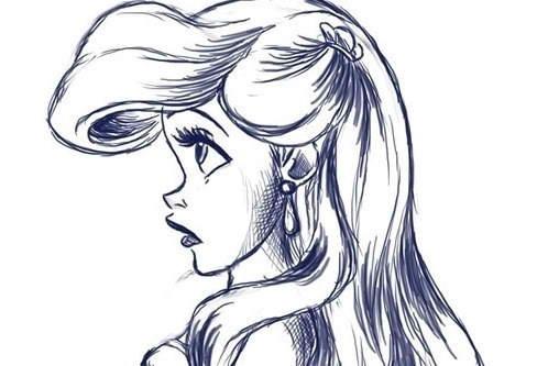 498x333 ariel the little mermaid drawing artsy fartsy pinterest