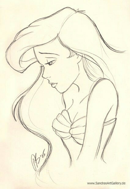 425x616 The Little Mermaid Disney Mermaid, Drawings