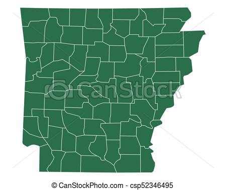 450x380 Map Of Arkansas Eps Vectors
