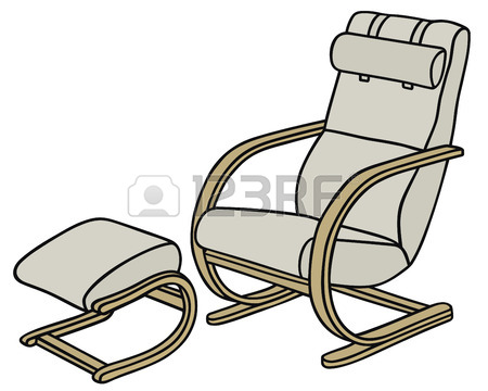450x360 Hand Drawing Of A Big Tv Armchair Royalty Free Cliparts, Vectors