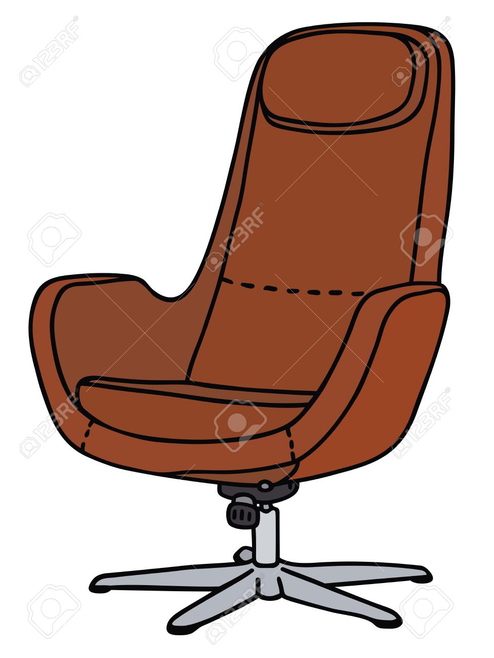 976x1300 Hand Drawing Of A Red Armchair Royalty Free Cliparts, Vectors,