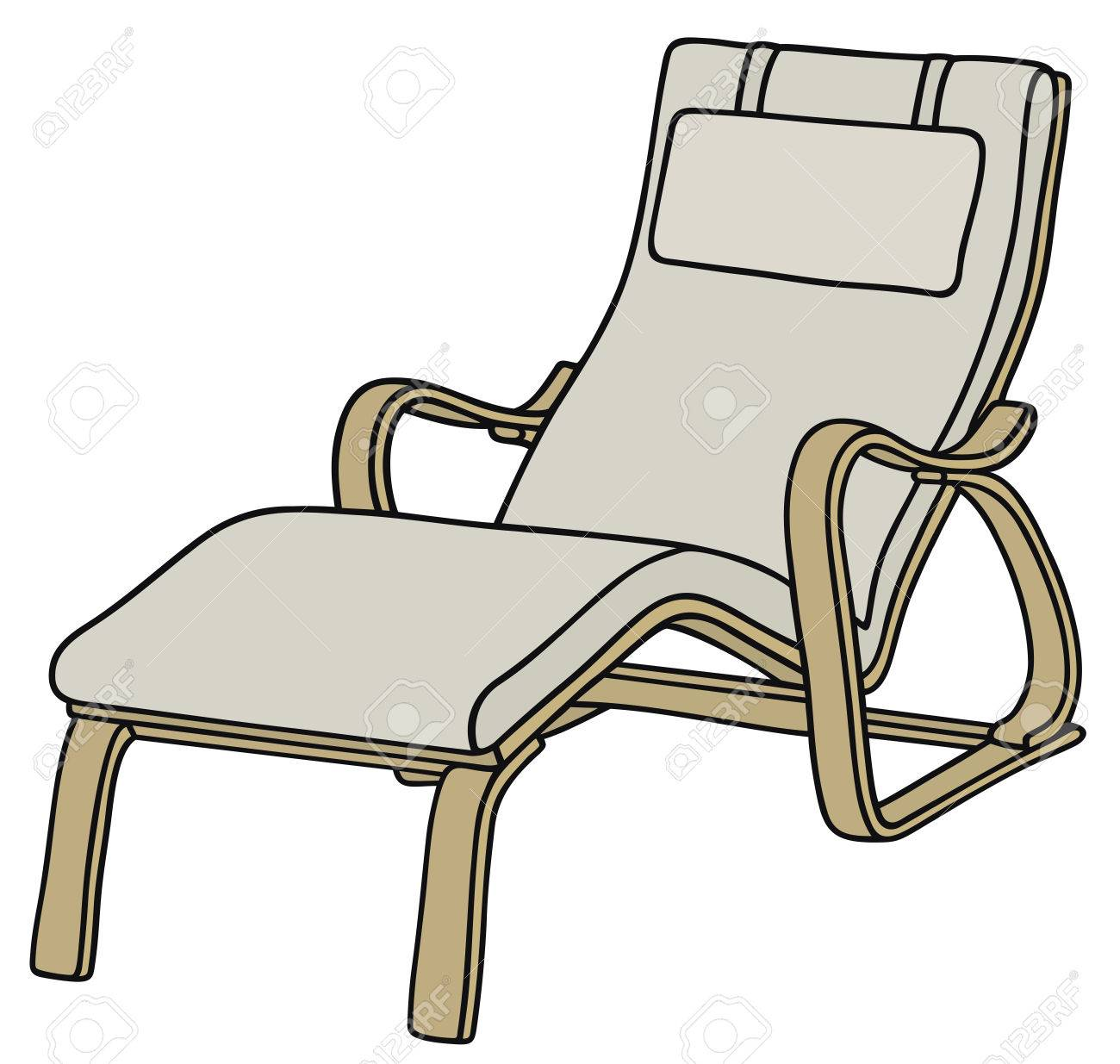 1300x1235 Hand Drawing Of A Relaxation Armchair Royalty Free Cliparts