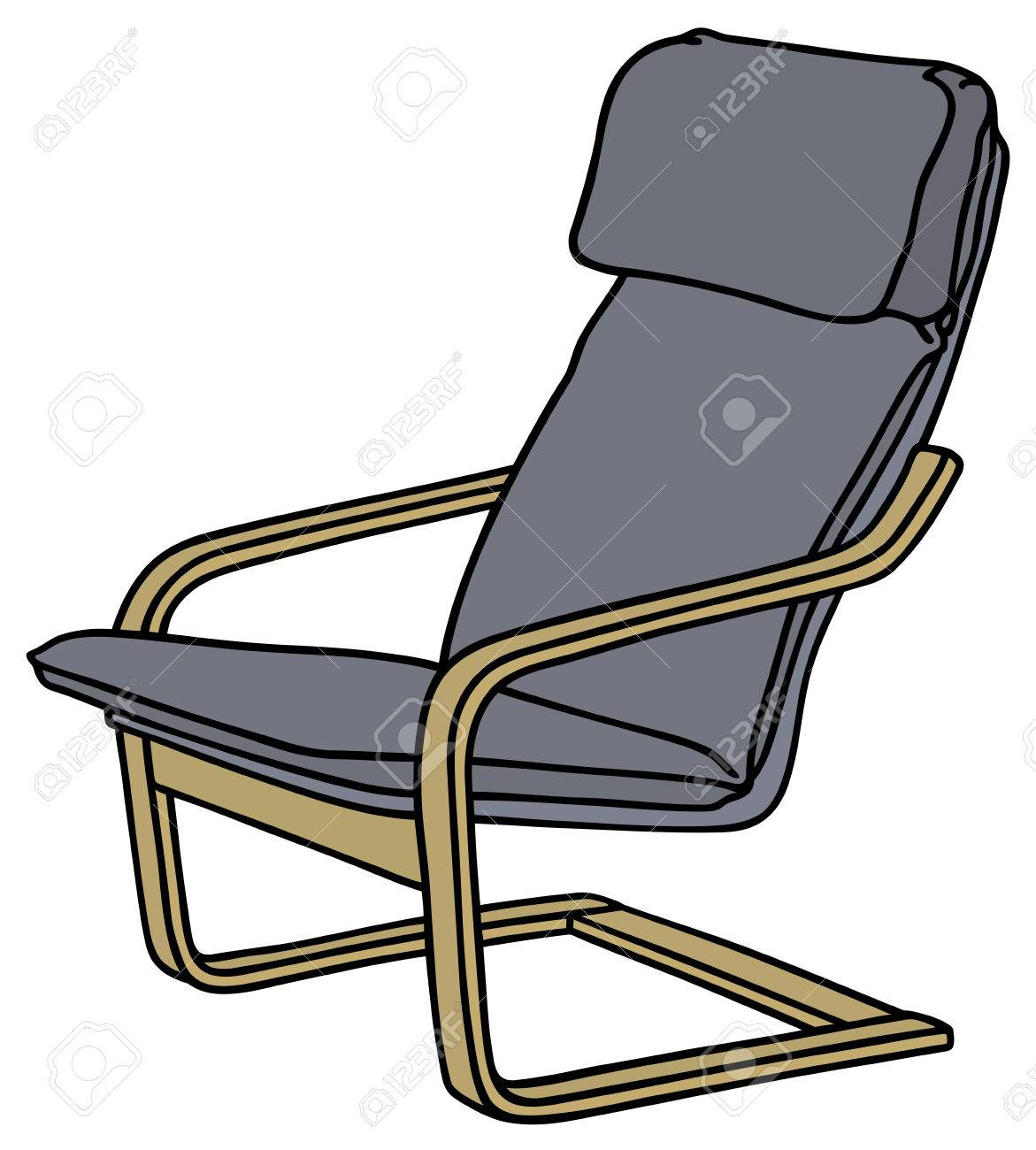 1171x1300 Hand Drawing Of A Wooden Armchair Royalty Free Cliparts, Vectors