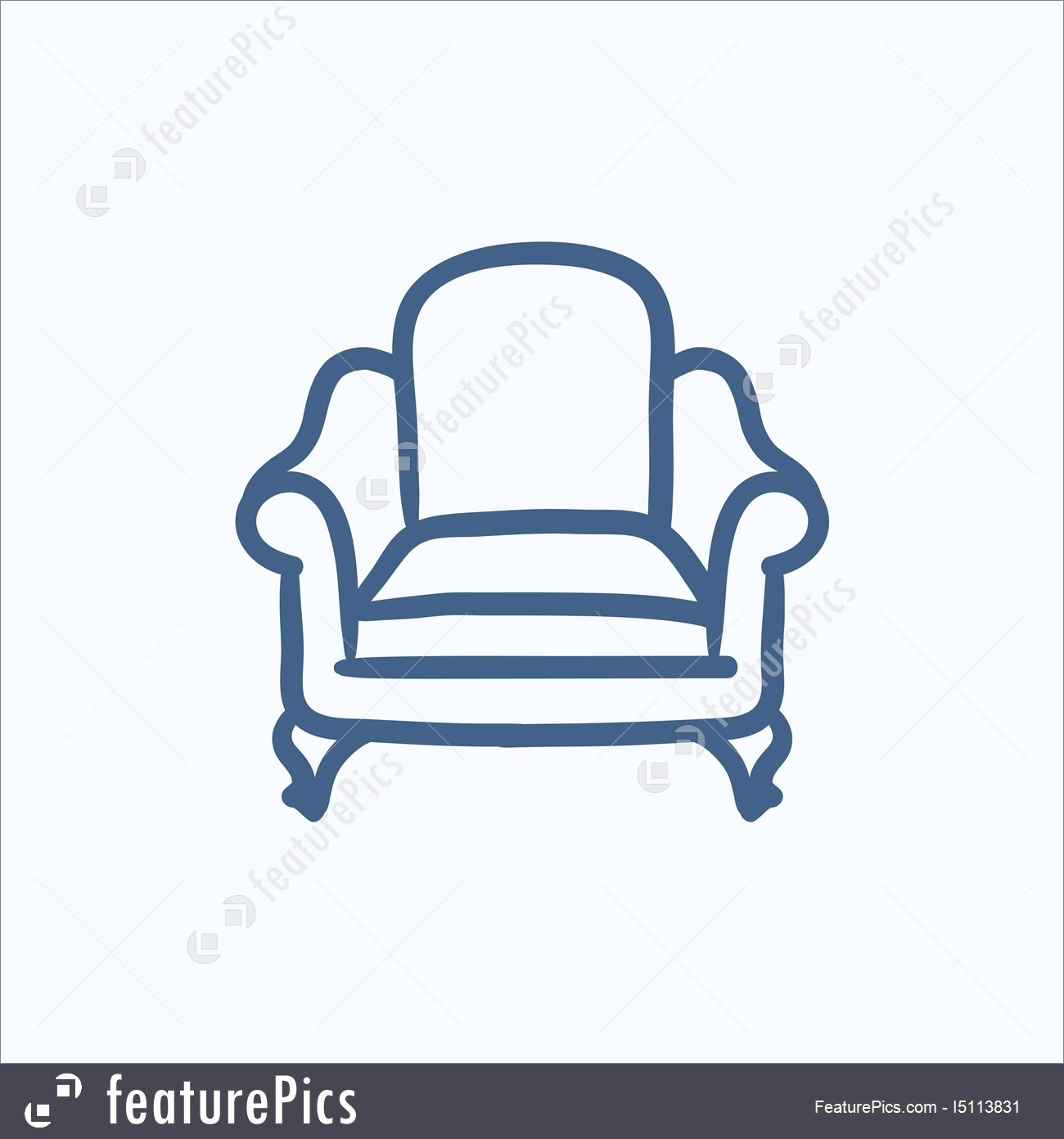 1300x1392 Illustration Of Armchair Sketch Icon.