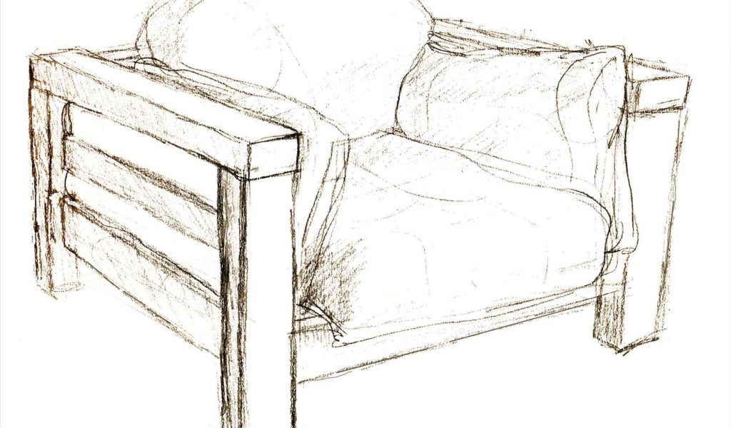 1024x600 The Images Collection Of From Easy Armchair Drawing Awesome Rivage
