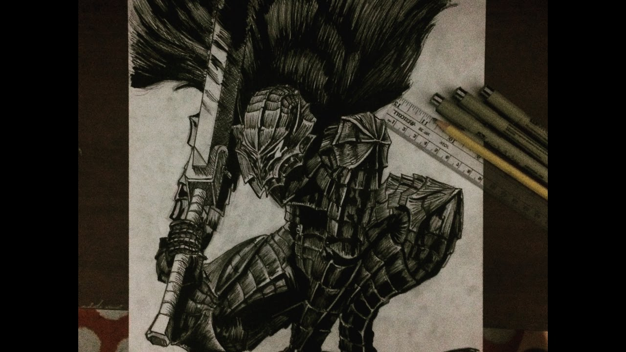 1280x720 Drawing Guts Guts In Berserker Armor How To Draw Guts