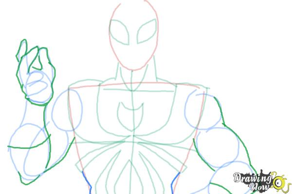 600x400 How To Draw Iron Spider Armor