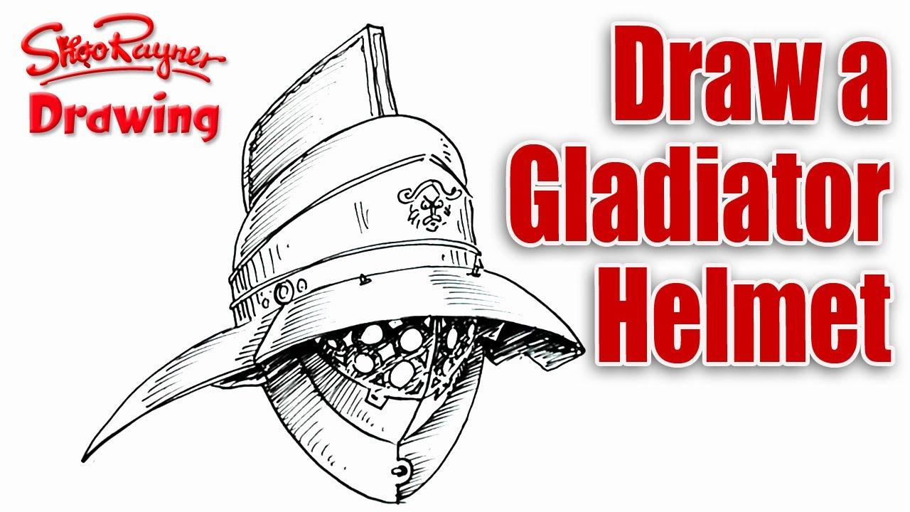 1280x720 How To Draw A Roman Gladiator Helmet