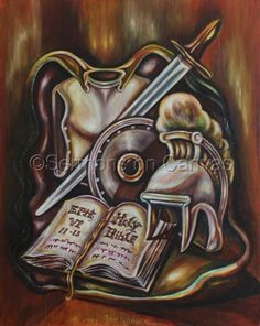 236x296 Black And Grey Armor Of God Tattoo By Dimas Reyes