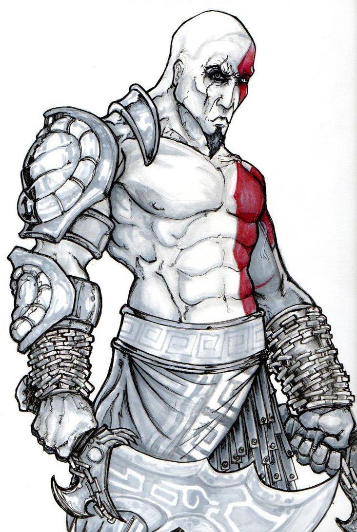 732x1092 Kratos God Of War By Chrisozfulton