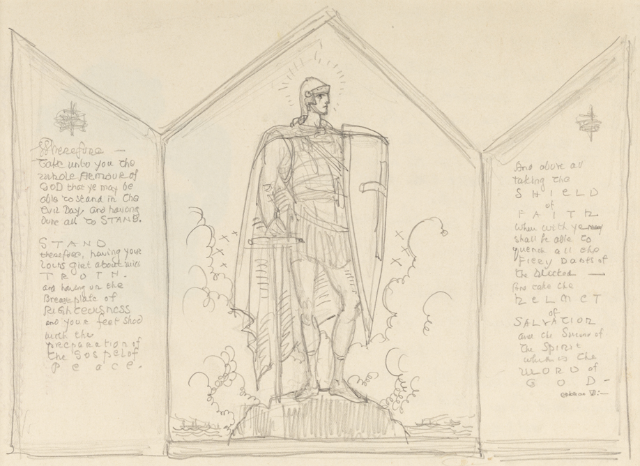 918x668 Study For The Whole Armour Of God Triptych Pafa