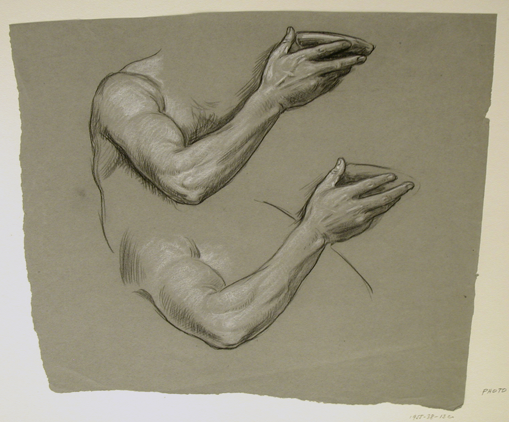1024x850 Drawing, Details Of Two Male Arms, Ca. 1885 Objects Collection