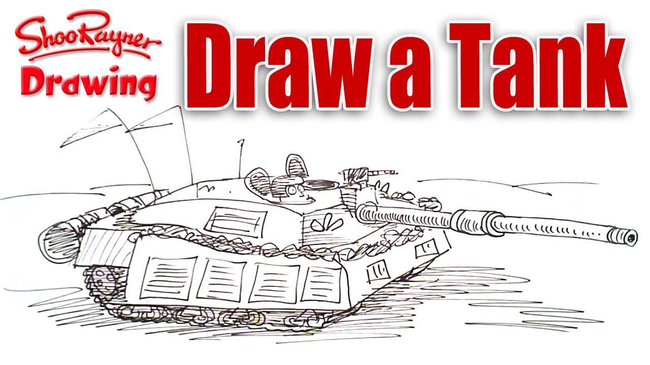 1280x720 How To Draw An Army Battle Tank