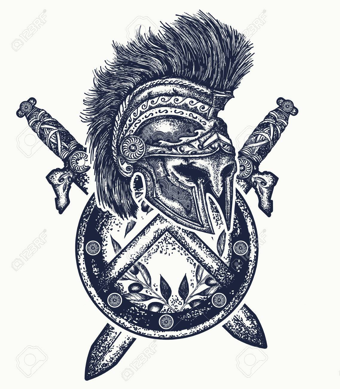 1137x1300 Spartan Helmet Crossed Swords And Spartan Shield. Symbol