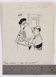 220x300 Jeffrey Roy Original Drawing For 1950s Published Cartoon Army Man