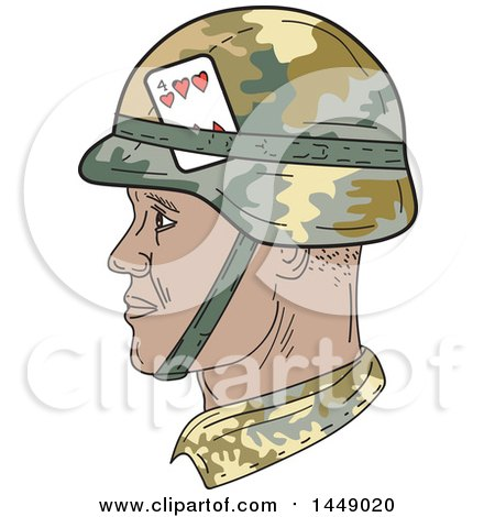 450x470 Clipart Graphic Of A Drawing Sketch Styled African American Us