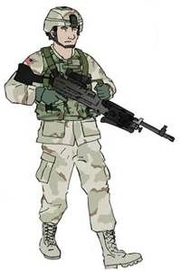 199x300 Female Army Soldier Drawing