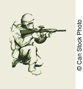 167x179 Soldier Army Action Hand Drawing. Good Use For Symbol, Web