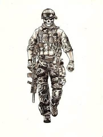 362x480 Army Skull