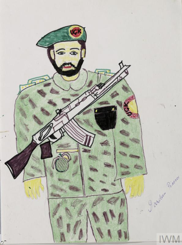 595x800 Child's Drawing Of Kosovo Liberation Army Soldier Imperial War