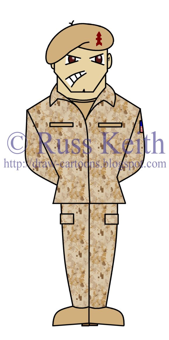 580x1164 Cartoon Army Soldier Drawing