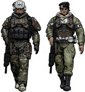 276x300 Female Army Soldier Drawing
