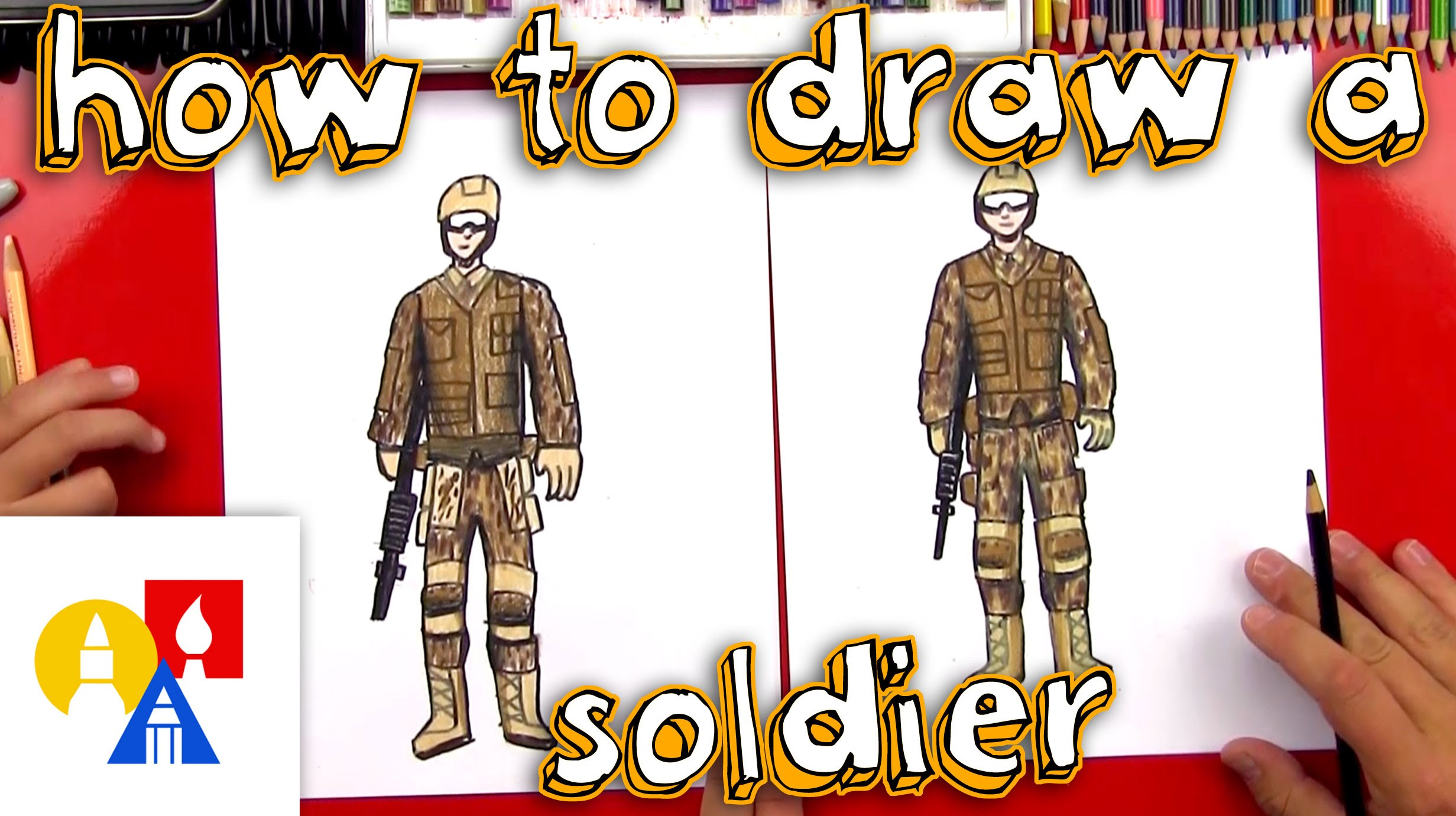 2463x1381 How To Draw A Soldier