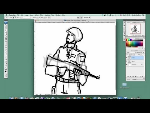 480x360 How To Draw A Military Soldier On Photoshop Basic Drawing
